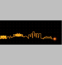 Monaco light streak skyline vector