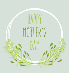 mother day with plants and flowers symbol vector image