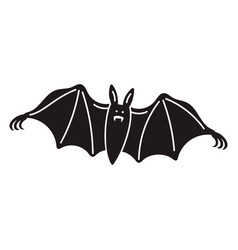 night bat icon simple style vector image