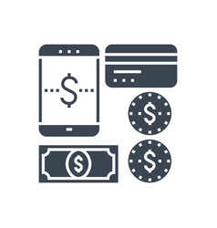 payment method glyph icon vector image