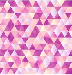 Pink abstract triangle vintage background vector image