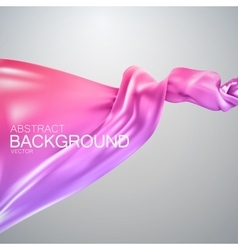 Pink silk fabric vector image