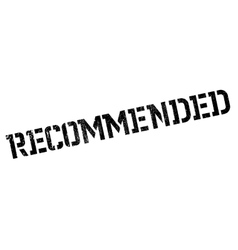 Recommended rubber stamp vector image