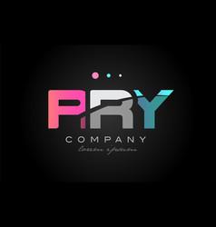 rry r r y three letter logo icon design vector image vector image