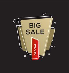 sale golden banner design template vector image