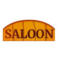 saloon wood board icon cartoon style vector image