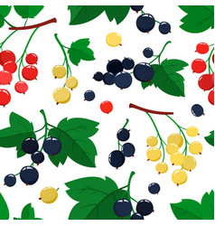 Seamless pattern with cartoon currant vector