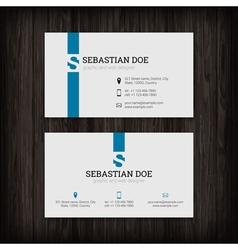 Set business cards templates vector