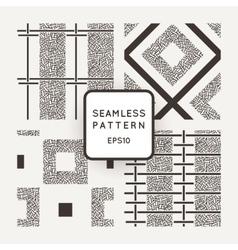 Set of seamless patterns of randomly vector