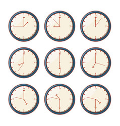 set of watches with different hours vector image
