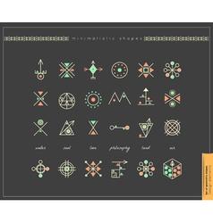 Set og shapes vector