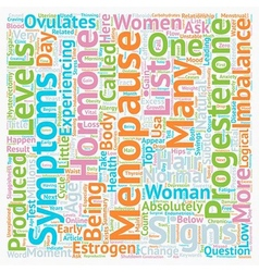 Signs And Symptoms Of Menopause Top 12 Menopause vector