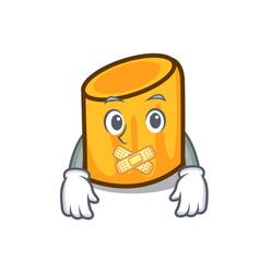 Silent rigatoni mascot cartoon style vector