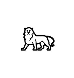 simple and linear lion icon heraldic lion vector image