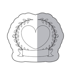 Sticker monochrome with half shadow with crown vector