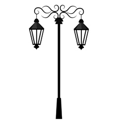 Street antique lights isolated icon vector