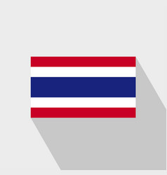 Thailand flag long shadow design vector