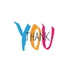 Thank you lettering colorful vector