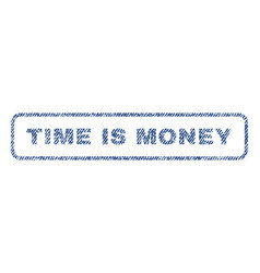 Time is money textile stamp vector