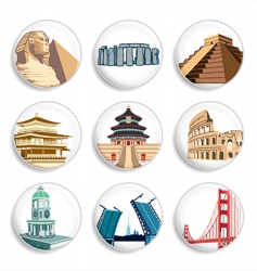 Travel destination badges vector