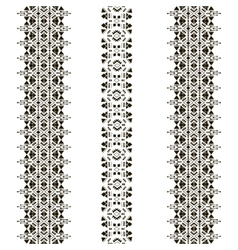 Tribal seamless pattern vertical vector