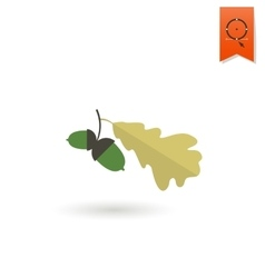 Two Acorn With Oak Leaves vector image