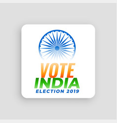 Vote india election 2019 concept design vector