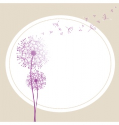 Abstract dandelion in the wind vector