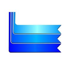 Blue Banner Ribbon on White Background vector image