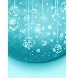 Blue elegant christmas snowflakes EPS 8 vector image