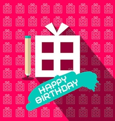 Happy Birthday Paper Flat Design with Paper vector image