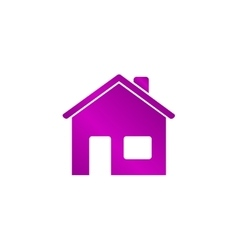 Home icon Flat design style vector image vector image