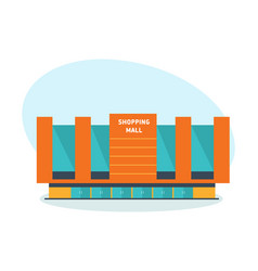 modern building shopping mall shopping center vector image