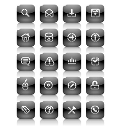 Stencil black buttons for internet vector image
