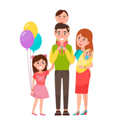 big happy family icon vector image