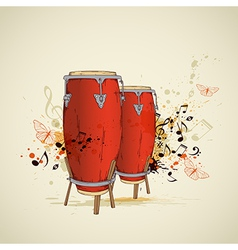 drums background vector image