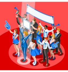 Election Infographic Crowd Congress Isometric vector image vector image