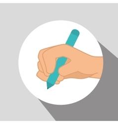 Hand palm cartoon vector image