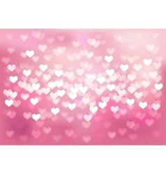 Pink festive lights in heart shape background vector image vector image