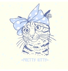 pretty kitty vector image