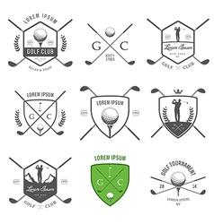 Set of vintage golf labels and badges vector