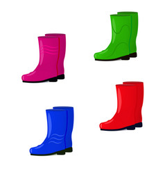 a set of rubber boots vector image vector image