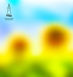 Blurred Sunflowers and Blue Sky Abstract Summer vector image vector image