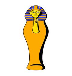 egyptian pharaoh sarcophagus icon cartoon vector image vector image