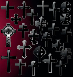 elegant cross - set vector image vector image