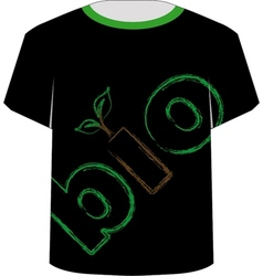 T shirt template- eco friendly design vector
