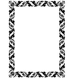 thai pattern frame vector image vector image