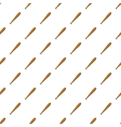Baseball bat pattern cartoon style vector image