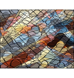 Cloud mosaic vector image vector image