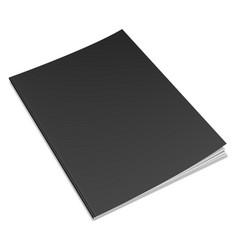 empty black book template vector image vector image